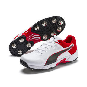 Thumbnail 2 van PUMA Spike 19.2 cricketschoenen voor mannen, Wit-zwart-High Risk Red, medium