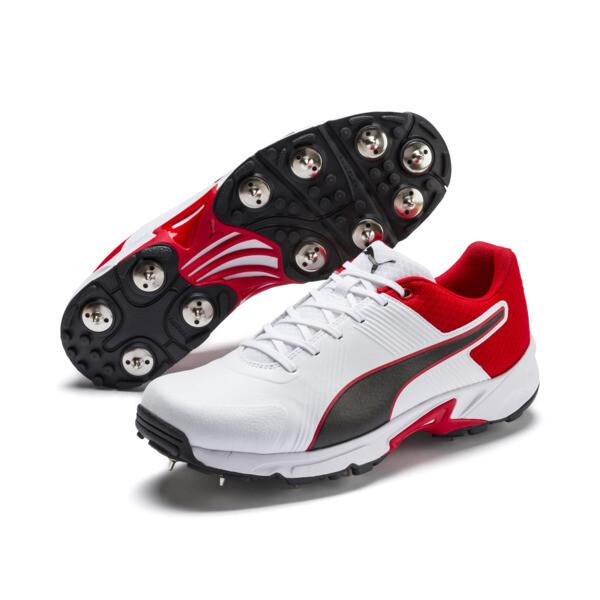 PUMA Spike 19.2 cricketschoenen voor mannen, Wit-zwart-High Risk Red, large