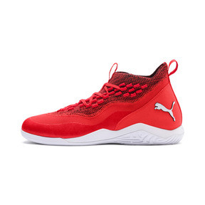 Thumbnail 1 of 365 IGNITE Fuse P 1 Men's Soccer Shoes, Red Blast-White-Puma Black, medium