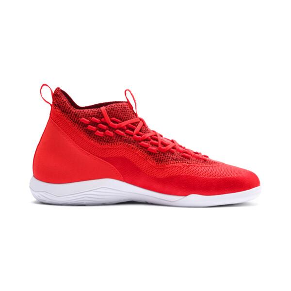 365 IGNITE Fuse P 1 Men's Soccer Shoes, Red Blast-White-Puma Black, large