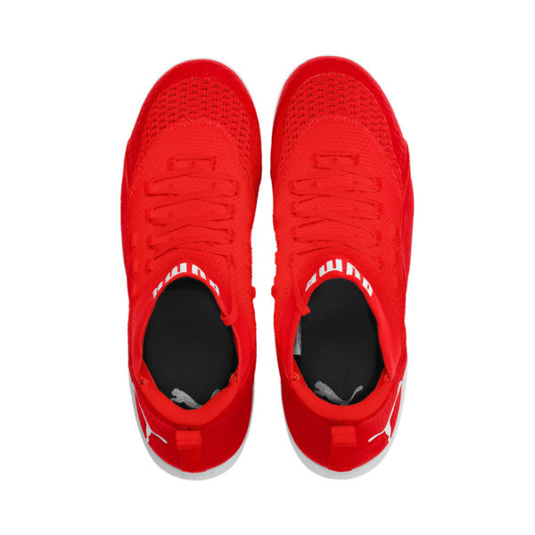 365 IGNITE FUSE 2 Men's Soccer Shoes, Red Blast-White-Puma Black, large