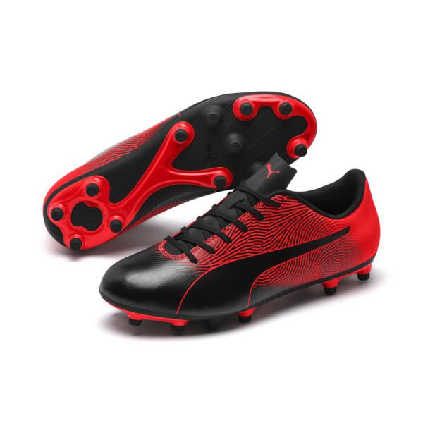 PUMA Spirit II FG Men's Soccer Cleats, Puma Black-Red Blast, large