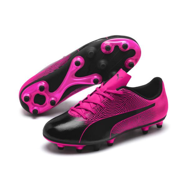 PUMA Spirit II FG Soccer Cleats JR, Puma Black-KNOCKOUT PINK, large