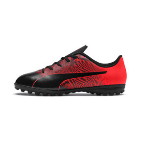 Thumbnail 1 of PUMA Spirit II TT Soccer Shoes JR, Puma Black-Red Blast, medium