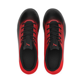 Thumbnail 6 of PUMA Spirit II TT Soccer Shoes JR, Puma Black-Red Blast, medium