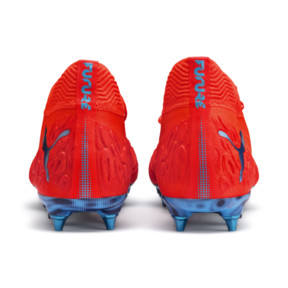 Thumbnail 4 of Chaussure de football FUTURE 19.1 NETFIT Mx SG, Red Blast-Bleu Azur, medium