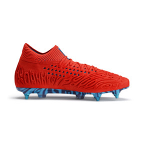 Thumbnail 6 of Chaussure de football FUTURE 19.1 NETFIT Mx SG, Red Blast-Bleu Azur, medium