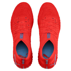 Thumbnail 7 of Chaussure de football FUTURE 19.1 NETFIT Mx SG, Red Blast-Bleu Azur, medium