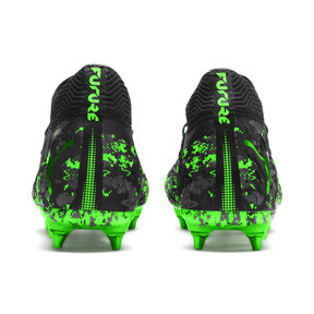 Thumbnail 3 of FUTURE 19.1 NETFIT Mx SG Fußballschuhe, Black-Gray-Green Gecko, medium