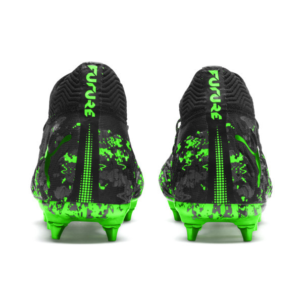 FUTURE 19.1 NETFIT MxSG Football Boots, Black-Gray-Green Gecko, large