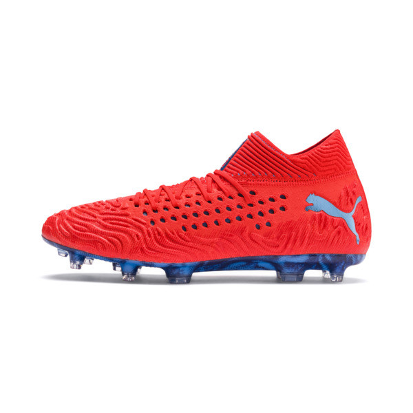FUTURE 19.1 NETFIT FG/AG Men's Football Boots, Red Blast-Bleu Azur, large