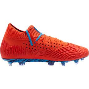 Thumbnail 5 of FUTURE 19.1 NETFIT FG/AG Men's Soccer Cleats, Red Blast-Bleu Azur, medium