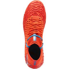 Thumbnail 6 of FUTURE 19.1 NETFIT FG/AG Men's Soccer Cleats, Red Blast-Bleu Azur, medium
