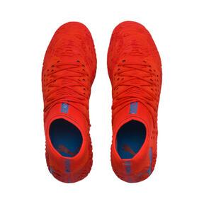 Thumbnail 7 of FUTURE 19.1 NETFIT FG/AG Men's Soccer Cleats, Red Blast-Bleu Azur, medium