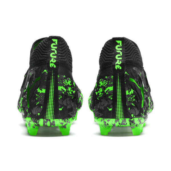FUTURE 19.1 NETFIT FG/AG Men's Soccer Cleats, Black-Gray-Green Gecko, large