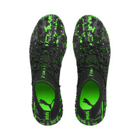 Thumbnail 8 of FUTURE 19.1 NETFIT FG/AG Men's Soccer Cleats, Black-Gray-Green Gecko, medium