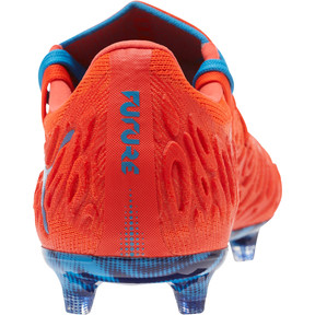 Thumbnail 4 of FUTURE 19.1 NETFIT Lo FG/AG Men's Soccer Cleats, Red Blast-Bleu Azur, medium