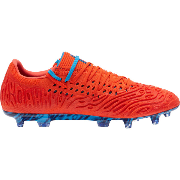 FUTURE 19.1 NETFIT Lo FG/AG Men's Soccer Cleats, Red Blast-Bleu Azur, large