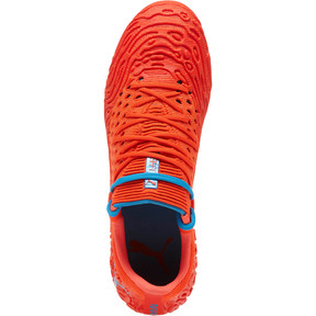 Thumbnail 5 of FUTURE 19.1 NETFIT Lo FG/AG Men's Soccer Cleats, Red Blast-Bleu Azur, medium