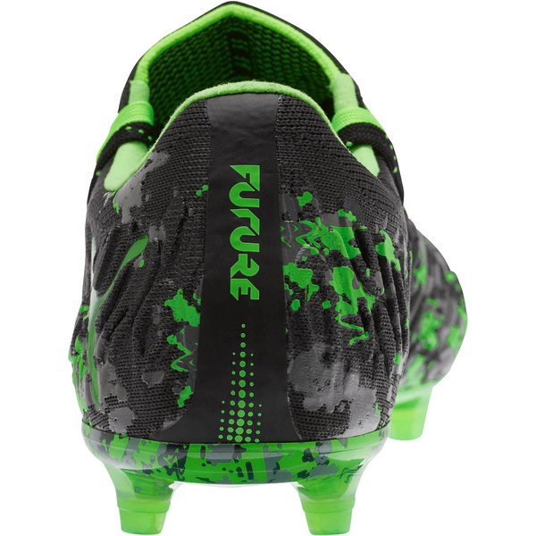 FUTURE 19.1 NETFIT Lo FG/AG Men's Soccer Cleats, Black-Gray-Green Gecko, large