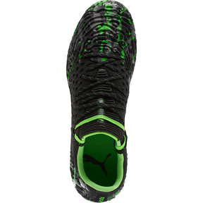 Thumbnail 5 of FUTURE 19.1 NETFIT Lo FG/AG Men's Soccer Cleats, Black-Gray-Green Gecko, medium