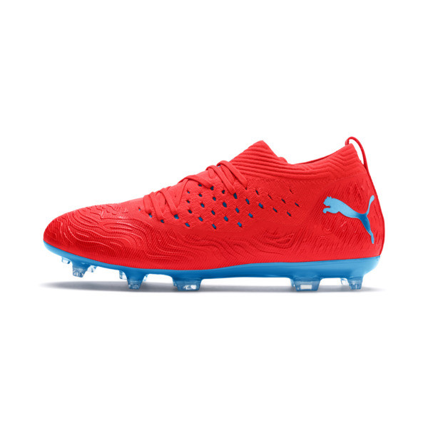 FUTURE 19.2 NETFIT FG/AG Men's Football Boots, Red Blast-Bleu Azur, large