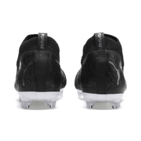 Thumbnail 3 of FUTURE 19.2 NETFIT FG/AG Men's Football Boots, Puma Black-Puma Black-White, medium