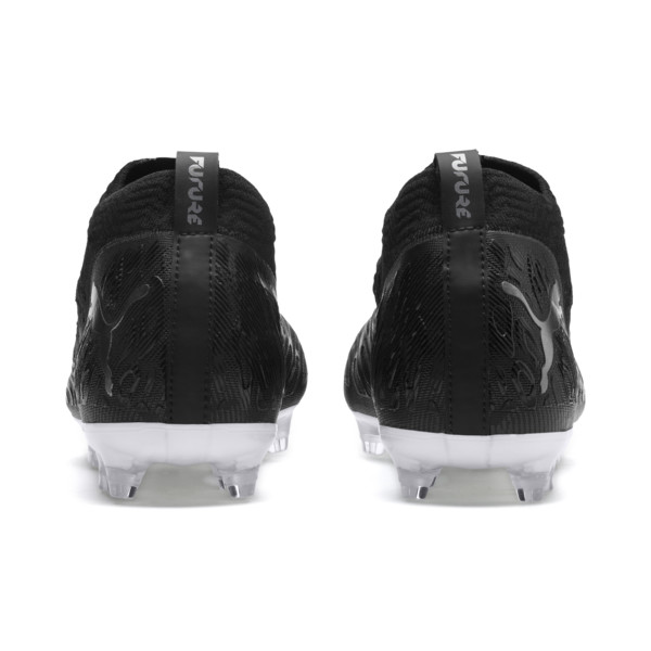 FUTURE 19.2 NETFIT FG/AG Men's Football Boots, Puma Black-Puma Black-White, large
