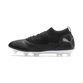 Thumbnail 1 of FUTURE 19.2 NETFIT FG/AG Men's Football Boots, Puma Black-Puma Black-White, medium