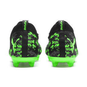 Thumbnail 3 of FUTURE 19.2 NETFIT FG/AG Men's Football Boots, Black-Gray-Green Gecko, medium