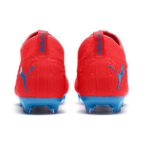 Thumbnail 3 of FUTURE 19.3 NETFIT FG/AG Men's Football Boots, Red Blast-Bleu Azur, medium