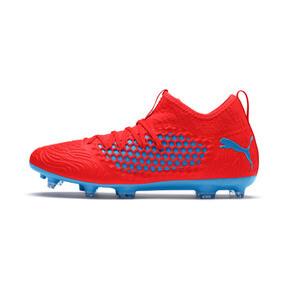 Thumbnail 1 of FUTURE 19.3 NETFIT FG/AG Men's Soccer Cleats, Red Blast-Bleu Azur, medium