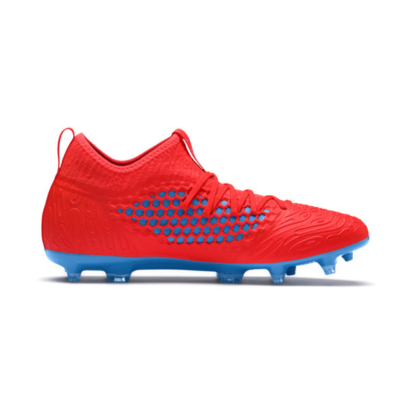 FUTURE 19.3 NETFIT FG/AG Men's Football Boots, Red Blast-Bleu Azur, large