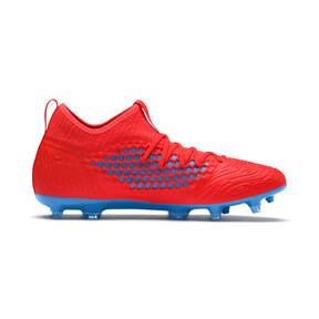 Thumbnail 5 of FUTURE 19.3 NETFIT FG/AG Men's Soccer Cleats, Red Blast-Bleu Azur, medium