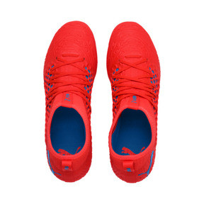 Thumbnail 6 of FUTURE 19.3 NETFIT FG/AG Men's Football Boots, Red Blast-Bleu Azur, medium
