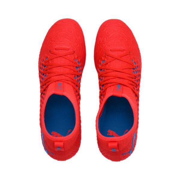FUTURE 19.3 NETFIT FG/AG Men's Soccer Cleats, Red Blast-Bleu Azur, large