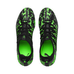 Thumbnail 6 of FUTURE 19.3 NETFIT FG/AG Men's Football Boots, Black-Gray-Green Gecko, medium