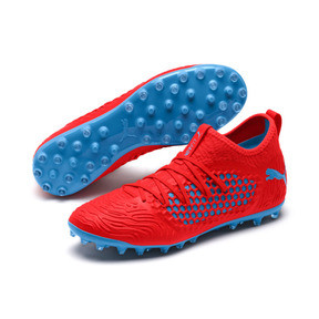 Thumbnail 2 of FUTURE 19.3 NETFIT MG Herren Fußballschuhe, Red Blast-Bleu Azur, medium