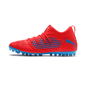 Thumbnail 1 of FUTURE 19.3 NETFIT MG Herren Fußballschuhe, Red Blast-Bleu Azur, medium