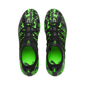Thumbnail 6 of FUTURE 19.3 NETFIT MG Herren Fußballschuhe, Black-Gray-Green Gecko, medium