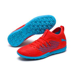 Thumbnail 3 of FUTURE 19.3 NETFIT TT Men's Soccer Cleats, Red Blast-Bleu Azur, medium