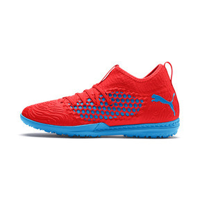 Thumbnail 1 of FUTURE 19.3 NETFIT TT Men's Football Boots, Red Blast-Bleu Azur, medium