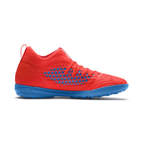 Thumbnail 6 of FUTURE 19.3 NETFIT TT Men's Soccer Shoes, Red Blast-Bleu Azur, medium