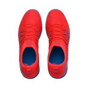 Thumbnail 7 of FUTURE 19.3 NETFIT TT Men's Soccer Shoes, Red Blast-Bleu Azur, medium