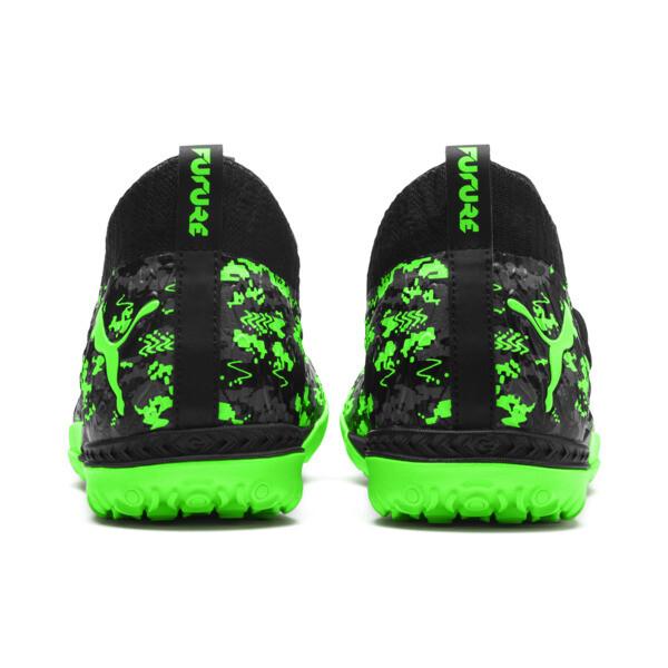 FUTURE 19.3 NETFIT TT Men's Soccer Shoes, Black-Gray-Green Gecko, large