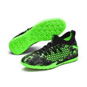 Thumbnail 2 of FUTURE 19.3 NETFIT TT Men's Soccer Cleats, Black-Gray-Green Gecko, medium