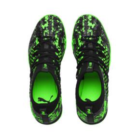 Thumbnail 6 of FUTURE 19.3 NETFIT TT Men's Soccer Shoes, Black-Gray-Green Gecko, medium