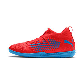 Thumbnail 1 of FUTURE 19.3 NETFIT IT Men's Soccer Shoes, Red Blast-Bleu Azur, medium