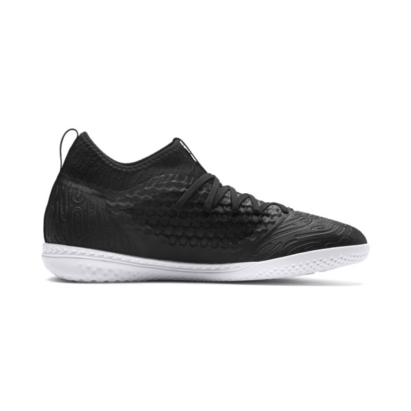 FUTURE 19.3 NETFIT IT Men's Soccer Shoes, Puma Black-Puma Black-White, large