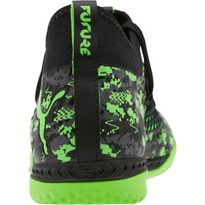 Thumbnail 3 of FUTURE 19.3 NETFIT IT Men's Soccer Shoes, Black-Gray-Green Gecko, medium
